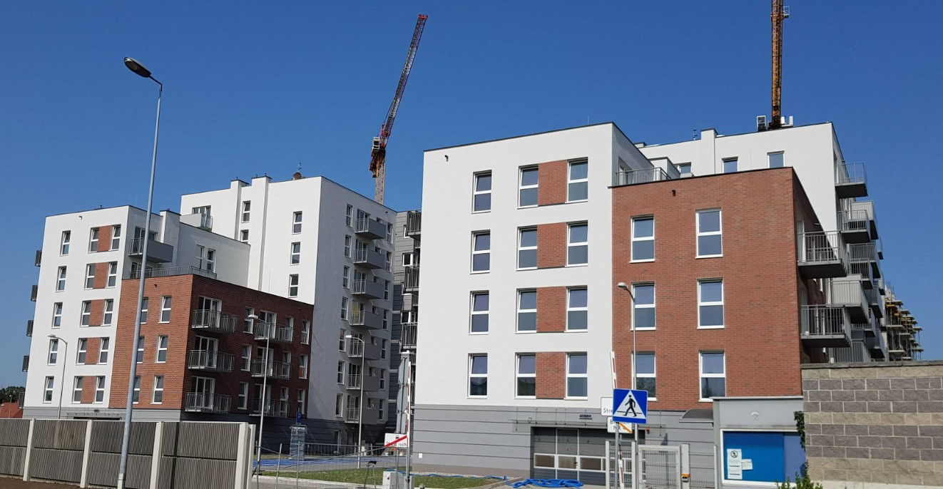 budynki Wspólnoty Mieszkaniowej przy ul. Baildona 2 i 4 w Katowicach nad którymi zarząd pełni ADM Property sp. z o.o.